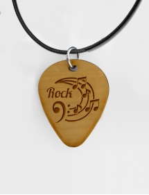 Púa madera guitarra personalizada logo