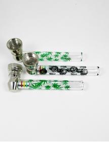 Pack 3 Pipas de Fumar metal y cristal