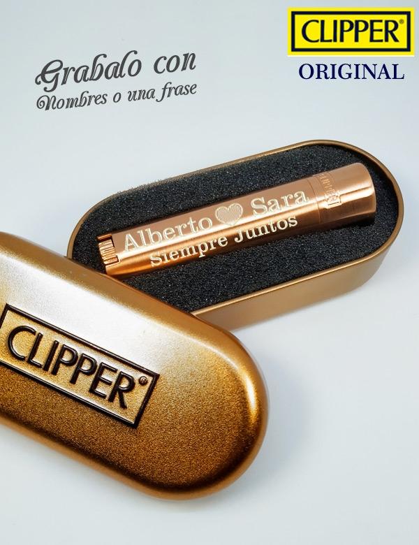 Clipper Personalizado Rosa Dorado