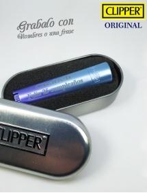 Clipper personalizado azul.