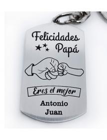 """Llavero Personalizado """"Felicidades Papá"""""""