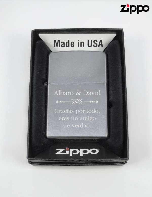 Zippo Original Personalizado, acabado mate.