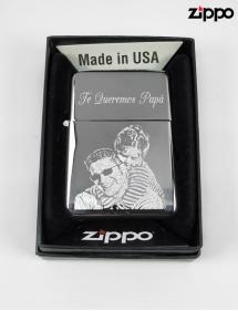 Zippo Original Grabado con Foto.