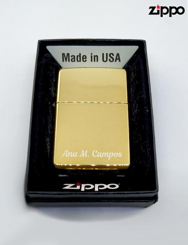 Zippo Dorado Personalizado.