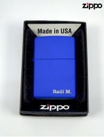 Zippo Azul personalizado