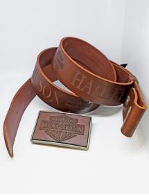 Cinturón + Hebilla en Cuero Harley Davidson