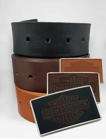 Cinturón + Hebilla Cuero Personalizada Logo