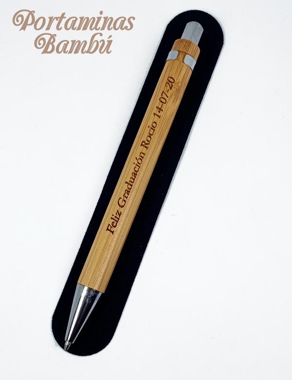 Portaminas Bambú Personalizado.