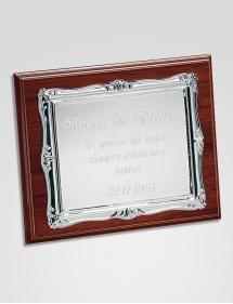 placa homenaje clásica grabado.