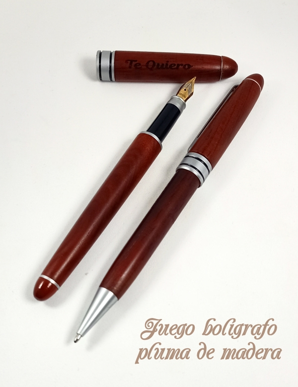 Juego bolígrafo y pluma personalizado