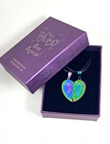 regalo corazón partido personalizada