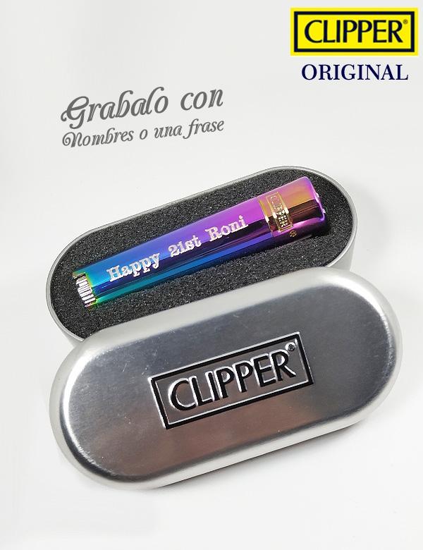 Clipper tornasol personalizado nombre