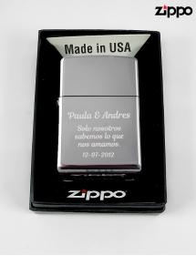 Personalizar Zippo original con texto.