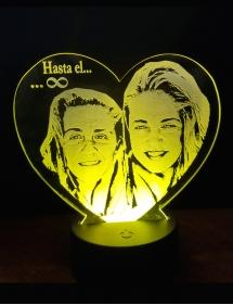 Lámpara LED Corazón Personalizada Foto