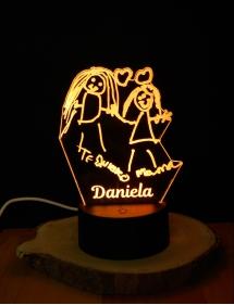 Lámpara LED Tu Dibujo Personalizado