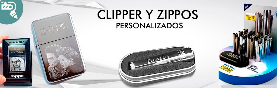 Cliper y zipo personalizados